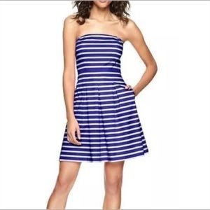 Gap Striped Strapless Dress
